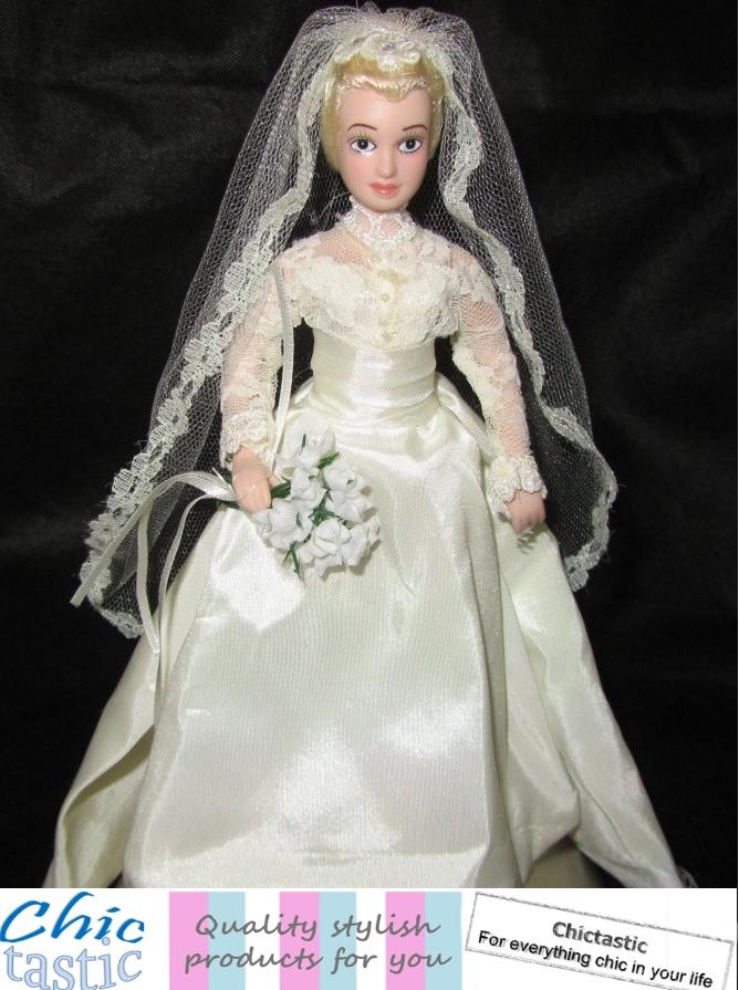 Princess Grace of Monaco porcelain Royal wedding doll Grace Kelly ...